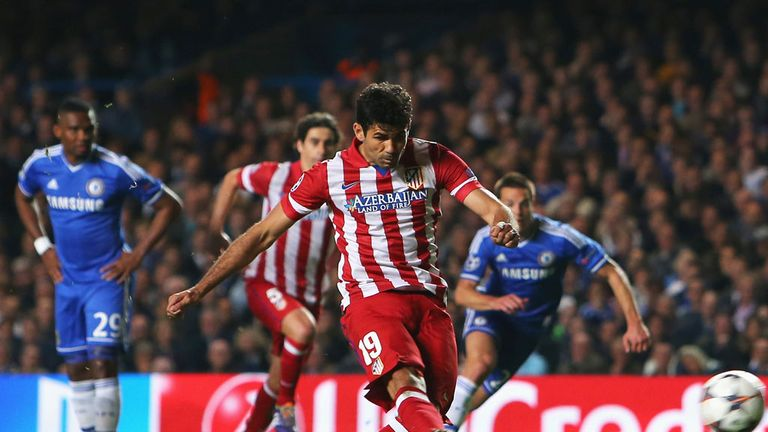 Costa: Scores penalty against Chelsea