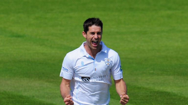 Derbyshire bowler Tim Groenewald: leaving at the end of the season