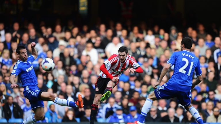 Adam Johnson: Sunderland winger in action against Chelsea
