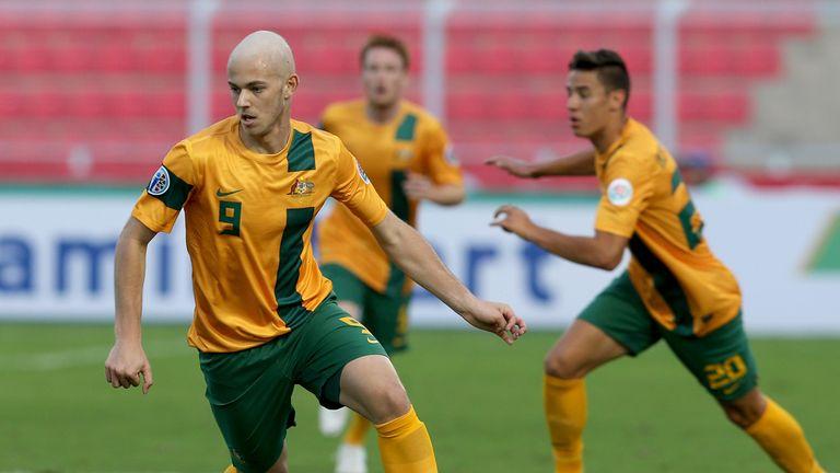 Dylan Tombides: West Ham striker in action for Australia