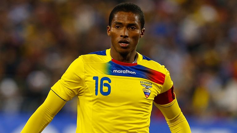 Antonio Valencia: Part of Ecuador's provisional World Cup squad