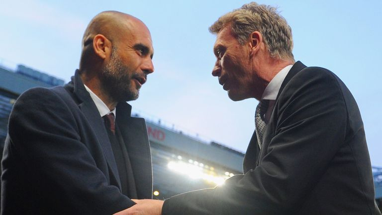 Pep Guardiola: Has no intention of succeeding David Moyes at Old Trafford