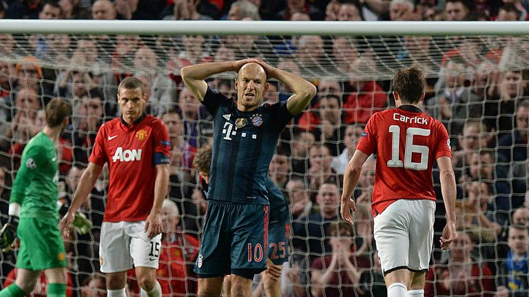 Arjen Robben: Rues rues a missed chance at Old Trafford