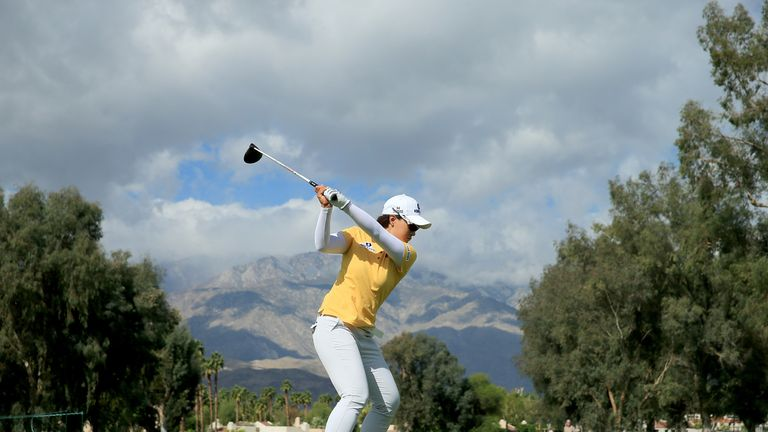 Se Ri Pak of South Korea drives during Tuesday's practice round
