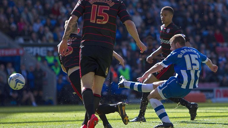 Callum McManaman: Scores his Wigan's third goal against Reading