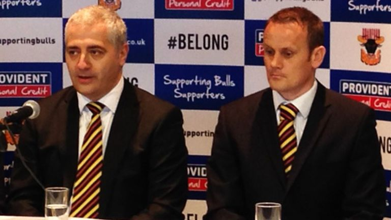 Marc Green (left) and Francis Cummins: Plotting a new era for Bradford