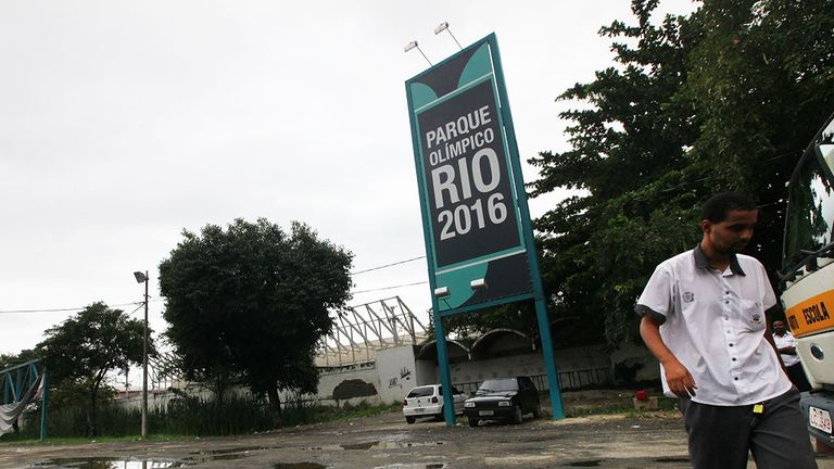 The entrance to the entrance to Rio's Olympic park