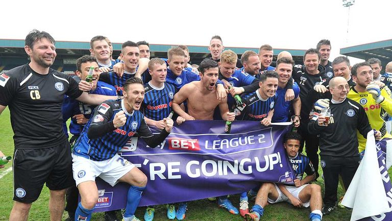 Rochdale won promotion to League One in 2013/14
