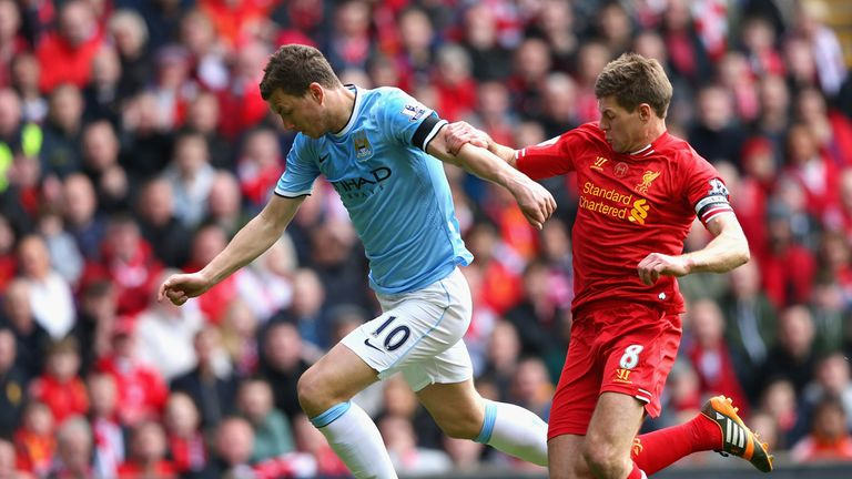 Edin Dzeko: Part of City side which won the Premier League in 2012