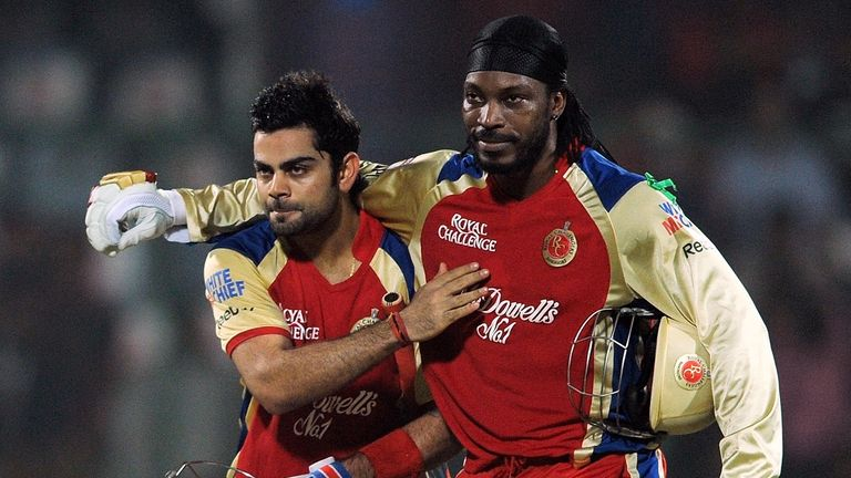 Virat Kohli and Chris Gayle will turn out for Royal Challengers Bangalore