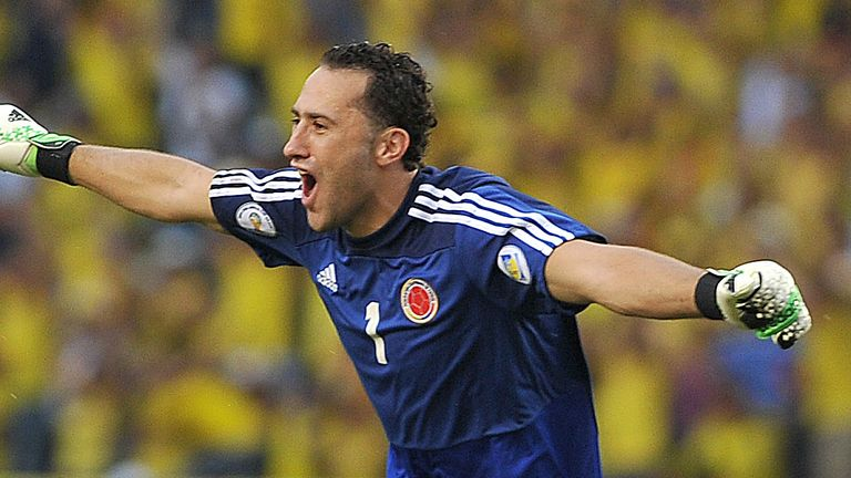 Colombian goalkeeper David Ospina
