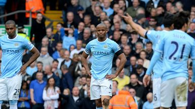 Vincent Kompany: Endured a tough afternoon at Anfield