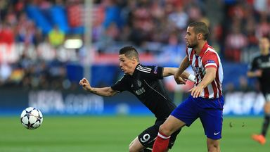 Fernando Torres in action back at former club Atletico Madrid in the Champions League