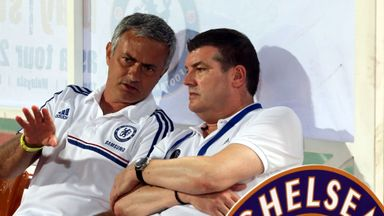 Ron Gourlay with manager Jose Mourinho. Gourlay is leaving to pursue new business opportunites