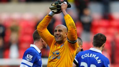 Tim Howard: Has been a mainstay of the Everton side in recent seasons