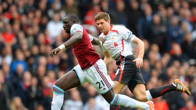 Mohamed Diame: West Ham midfielder has claimed Liverpool interest