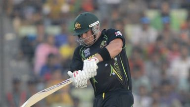 Aaron Finch: Hit 11 boundaries on his way to a score of 71
