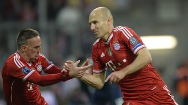 Arjen Robben: Scored the hosts third as they battled back to beat United