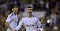 Gareth Bale: Celebrates after scoring the winner in Copa del Rey
