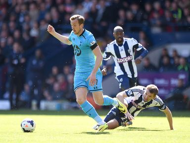 Harry Kane gets away from Gareth McAuley