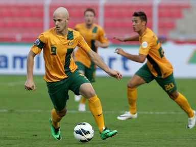 Dylan Tombides: West Ham striker in action for Australia