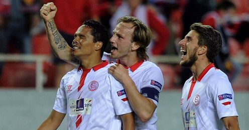 Carlos Bacca: Netted the second of two quick-fire goals for Sevilla