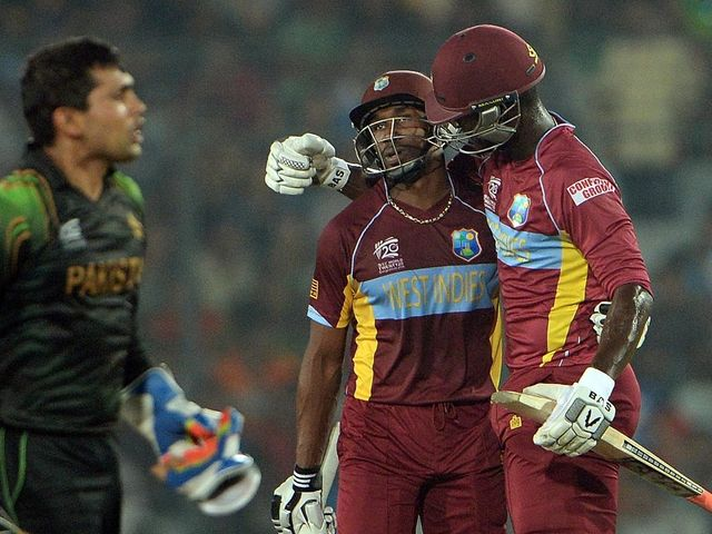 Dwayne Bravo and Darren Sammy led the Windies onslaught