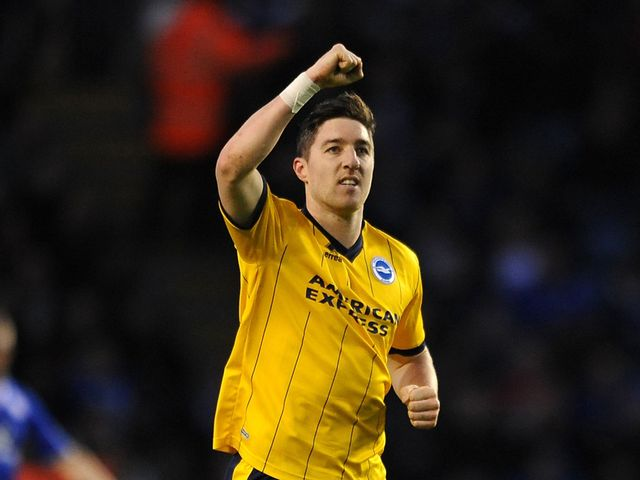 Brighton's Stephen Ward celebrates