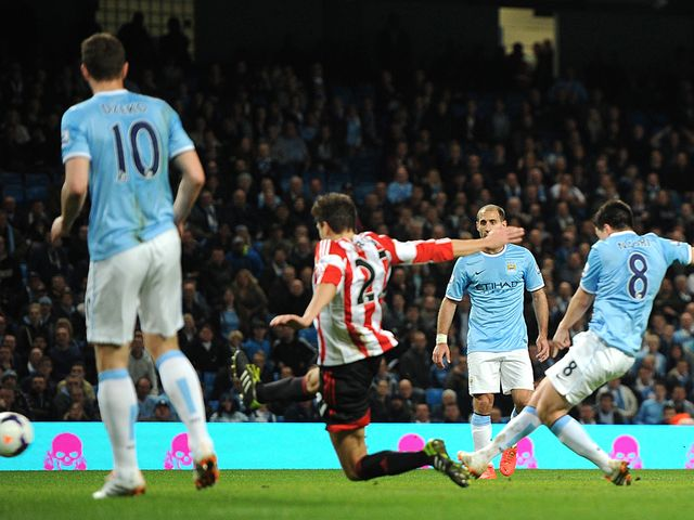 Samir Nasri struck a late equaliser for Man City
