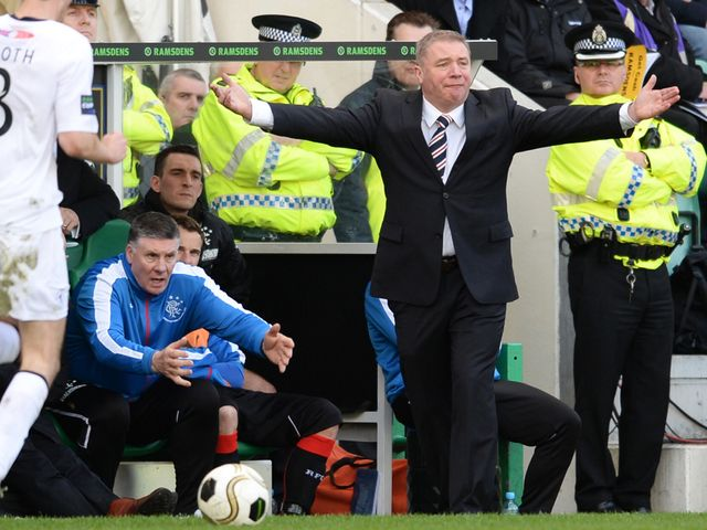 Ally McCoist shows his frustration