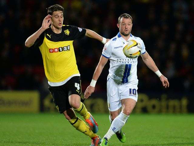 Watford's Gabriele Angella challenges Noel Hunt