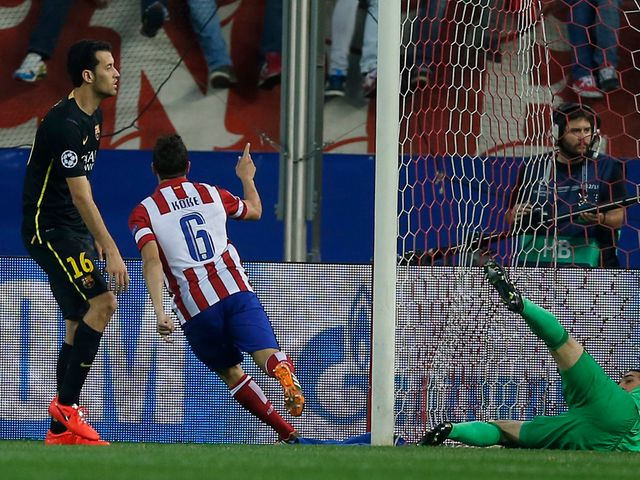 Koke scores the only goal of the second leg