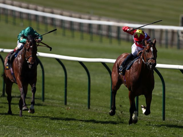 Magnus Maximus (right) beats Toofi in the Tattersalls Millions 3-Y-O Sprint