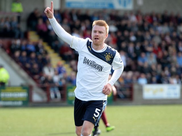 Steven Smith celebrates opening the scoring