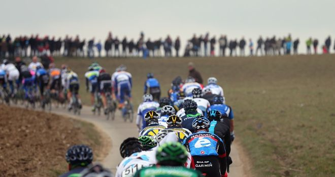 The Tour of Flanders this year contains 17 climbs and 16 sections of cobbles