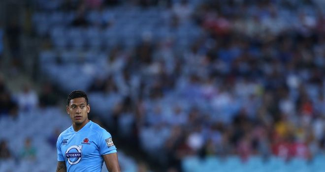 Israel Folau: Waratahs full-back withdrawn by ARU after being named in starting XV