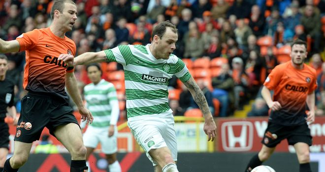 Anthony Stokes: Nips in for Celtic's second at Tannadice