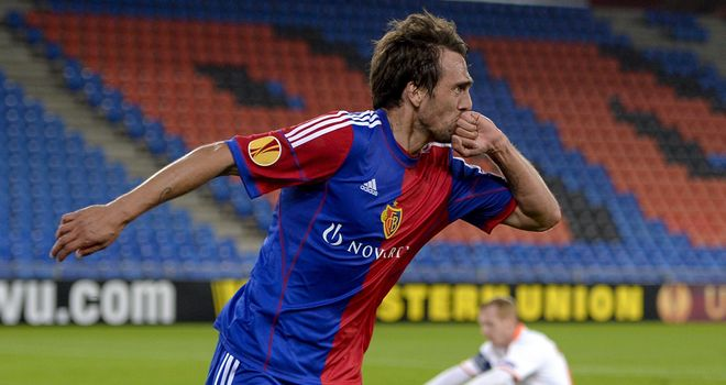 Matias Delgado: Scored twice in Basel's 3-0 win over Valencia