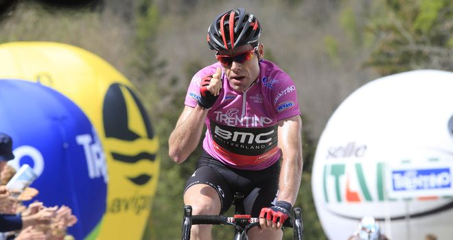 Cadel Evans: Showed great form on the climbs in Trentino