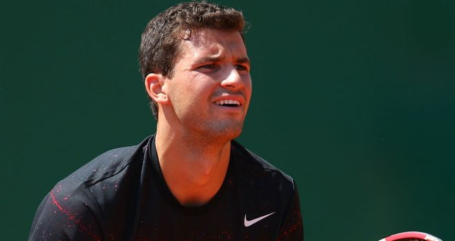 Grigor Dimitrov: His opponent Gael Monfils was forced to retire in their semi-final meeting