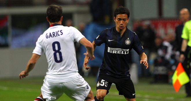 Yuto Nagatomo in action for Inter Milan