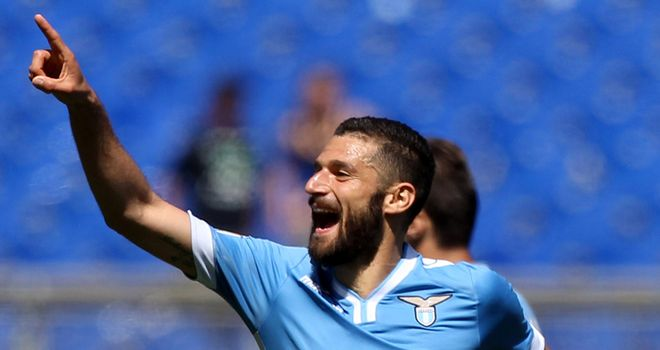 Antonio Candreva celebrates his goal