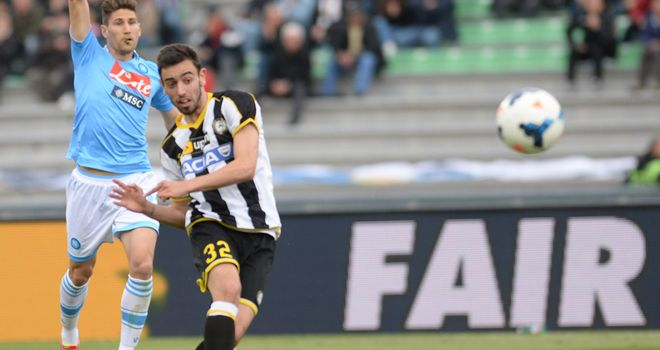 Bruno Fernandes scores for Udinese