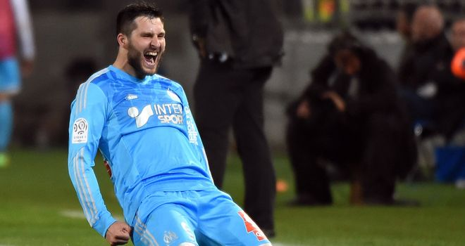 Andre-Pierre Gignac found the target for Marseille