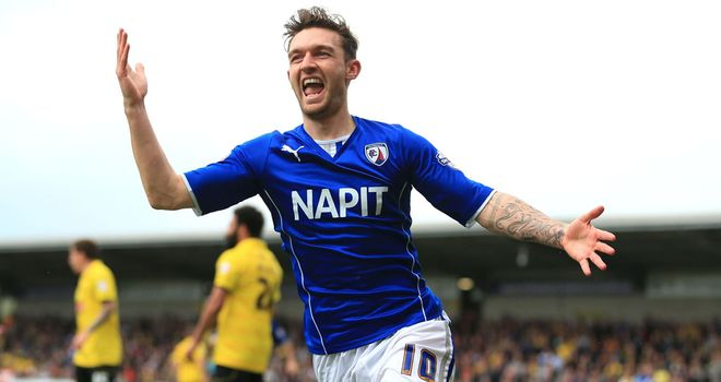 Jay O'Shea: Celebrates scoring his first goal