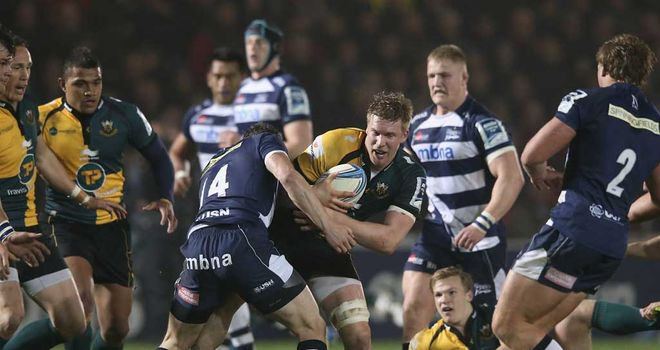 James Craig of Northampton breaks through the Sale defence