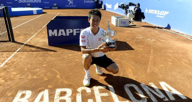 Kei Nishikori: Ended more than a decade of Spanish dominance at the Barcelona Open