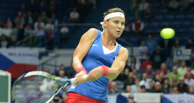 Lucie Safarova: Helped Czech Republic take a 2-0 lead against Italy