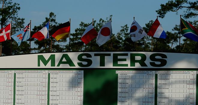 Another glorious day at Augusta National for the first round of the Masters