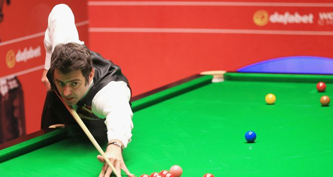 Ronnie O'Sullivan: Opened up a commanding 7-2 lead over Robin Hull